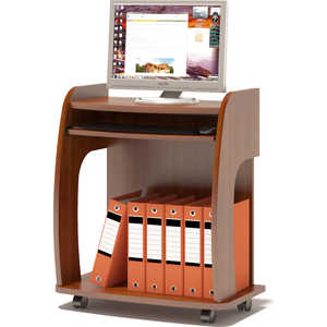 Стол компьютерный СОКОЛ КСТ-103 испанский орех компьютерный стол сокол кст 105 1 испанский орех