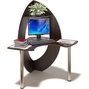 Стол компьютерный СОКОЛ КСТ-101 венге компьютерный стол сокол кст 103 испанский орех