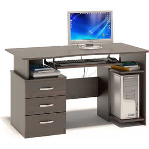 Стол компьютерный СОКОЛ КСТ-08.1 венге компьютерный стол сокол кст 101 кт 101 1