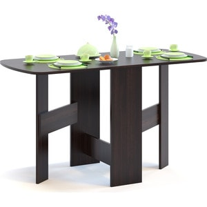 Стол-книжка СОКОЛ СП-10.1 венге сокол раскладной стол сокол сп 10 1 венге hvvu a k4
