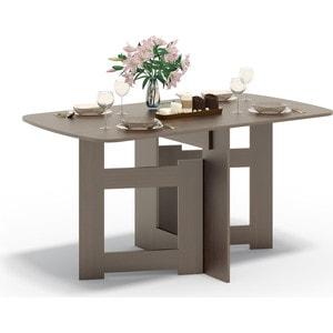 Стол-книжка СОКОЛ СП-08 венге сокол раскладной стол сокол сп 10 1 венге hvvu a k4