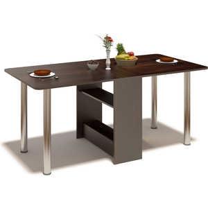 Стол-книжка СОКОЛ СП-04м.1 венге сокол раскладной стол сокол сп 10 1 венге hvvu a k4