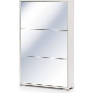 Обувница Вентал Арт Viva-3 зеркало, белый обувница вентал арт viva 4 стекло белый белый глянец