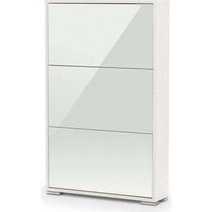 Обувница Вентал Арт Viva-3 стекло, белый/белый глянец