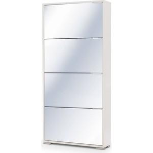 Обувница Вентал Арт Viva-4 зеркало, белый