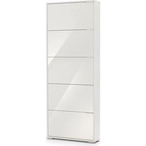 Обувница Вентал Арт Viva-5 стекло, белый/белый глянец