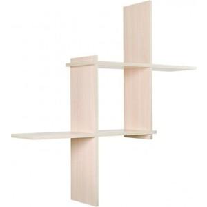 Полка Вентал Арт Кубик-3 беленый дуб