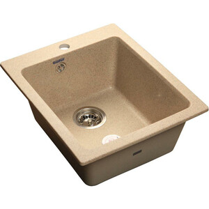 Мойка кухонная GranFest GF-P505 песочный 505х430 цена и фото