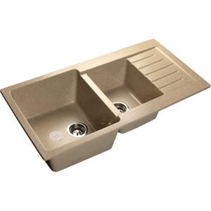 Мойка кухонная GranFest GF-P980KL песочный 980х510 2 чаши крыло granfest gf s780l песочный