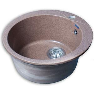 Мойка кухонная GranFest GF-R480 терракот d480 мойка кухонная granfest гранит d520 gf r520 терракот