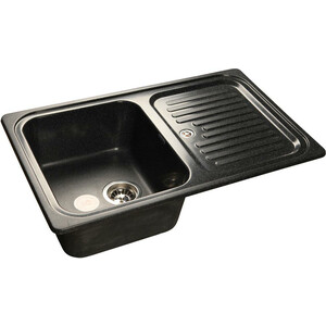 цены Мойка кухонная GranFest GF-S780L черный чаша крыло