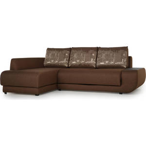 Диван угловой SettySet Нью-Йорк левый темно-коричневый диван угловой settyset дубай левый найс биттер
