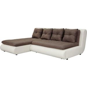 Диван угловой SettySet Кормак (Рио) коричневый угловой диван woodcraft кормак угловой модуль с ящиком