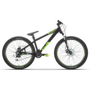 Велосипед Stark Shooter-2 черный/зеленый 16