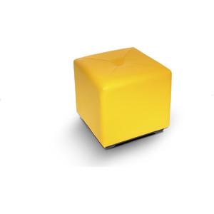Пуф МегаЭлатон ''Чико'' кож/зам, желтый