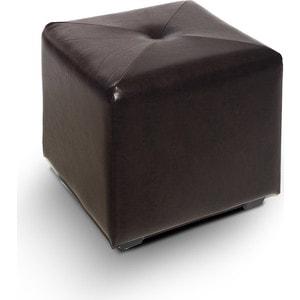 Пуф МегаЭлатон ''Чико'' кож/зам, коричневый