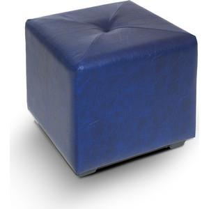 Пуф МегаЭлатон ''Чико'' кож/зам, темно синий