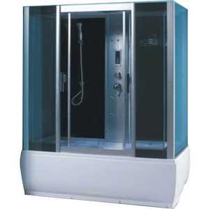 Душевая кабина Aqualux QUADRO 150х85 тонированное стекло/заднее стекло тёмное (AQ-4075GFH-Bl) тизерная сеть эквалайзер на заднее стекло