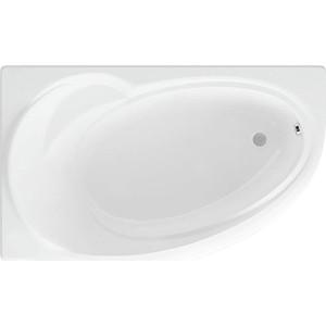 Акриловая ванна Акватек Бетта 170х95 левая, фронтальная панель, каркас, слив-перелив