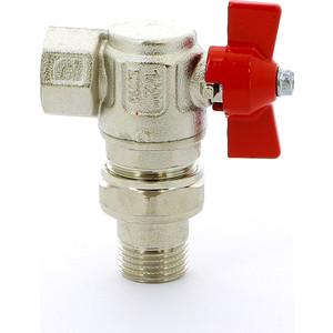 Кран ITAP шаровой угловой с накидной гайкой полнопроходной (бабочка) ART 298 Ideal 1/2''