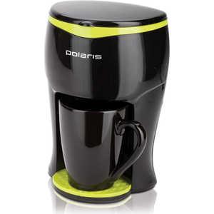 Кофеварка Polaris PCM 0109, черный/салатовый кофеварка polaris pcm 1517ae эспрессо серебристый черный