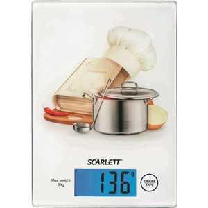 Кухонные весы Scarlett SC-1217 поваренок, белый весы кухонные scarlett sc ks57p31