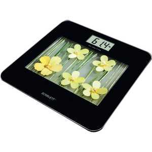 Весы Scarlett SC-BS33E002, желтый/рисунок весы scarlett sc bs33e002 цветы