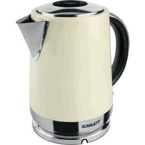 Чайник электрический Scarlett SC-EK21S04, бежевый чайник scarlett чайник scarlett sc ek14e04 white blue