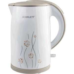 Чайник электрический Scarlett SC-EK21S08, белый/бежевый кофеварка scarlett sc cm33006