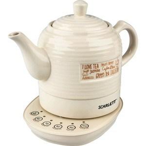 Чайник электрический Scarlett SC-EK24C02, бежевый чайник scarlett чайник scarlett sc ek14e04 white blue