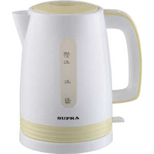 Чайник электрический Supra KES-1723, белый/желтый