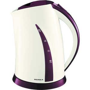 Чайник электрический Supra KES-2301, бежевый/фиолетовый supra kes 2301 grey