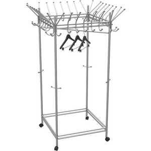 Вешалка гардеробная на колесах Мебелик Пико 23, металлик