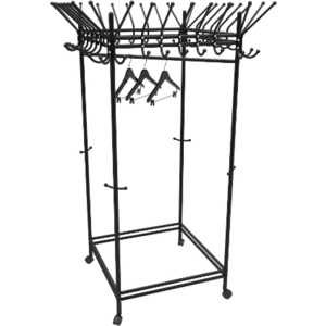 Вешалка гардеробная на колесах Мебелик Пико 23, черный