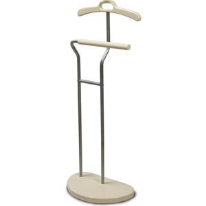 Вешалка костюмная Мебелик Д 10 металлик/слоновая кость