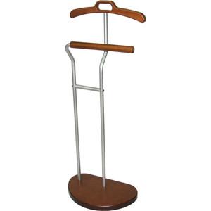мебелик костюмная вешалка галант 332 алюминий средне коричневый Вешалка костюмная Мебелик Д 10, металлик/ средне-коричневый