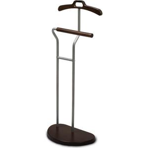 Вешалка костюмная Мебелик Д 10 металлик/темно-коричневый вешалка настенная мебелик в 3н темно коричневый