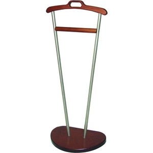 мебелик костюмная вешалка галант 332 алюминий средне коричневый Вешалка костюмная Мебелик Д 9, металлик/ средне-коричневый