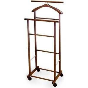 мебелик костюмная вешалка галант 332 алюминий средне коричневый Вешалка костюмная на колесах Мебелик В 22Н, средне-коричневый