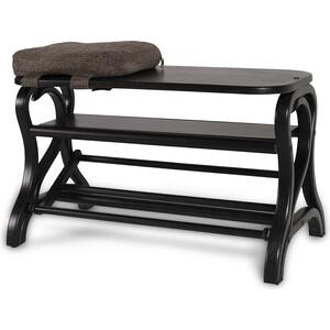Обувница Мебелик Диана темно-коричневый обувница мебелик диана темно коричневый ткань с 41841
