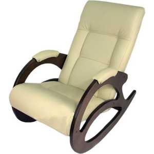 Кресло-качалка Мебелик Тенария 1, эко-кожа слоновая кость