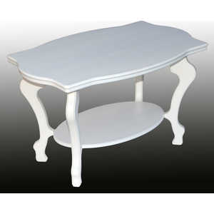 Стол журнальный Мебелик Берже 1 белый ясень мебелик стол журнальный берже 3 белый ясень 33ezffr