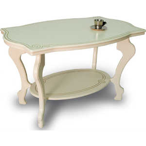 Стол журнальный Мебелик Берже 1, слоновая кость