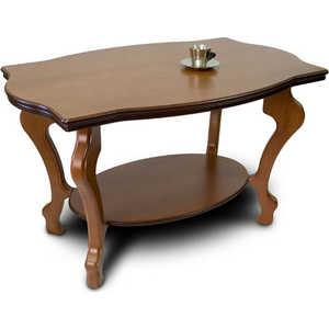 Стол журнальный Мебелик Берже 1 средне-коричневый мебелик стол журнальный берже 3 белый ясень 33ezffr