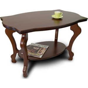 Стол журнальный Мебелик Берже 1, тёмно-коричневый шатура стол журнальный берже 3с тёмно коричневый