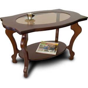 Стол журнальный Мебелик Берже 1С тёмно-коричневый мебелик стол журнальный берже 3 белый ясень 33ezffr