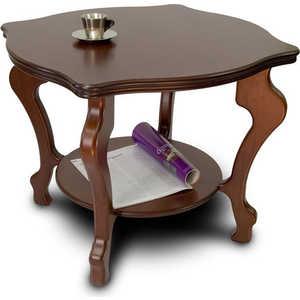 Стол журнальный Мебелик Берже 2, тёмно-коричневый шатура стол журнальный берже 1с тёмно коричневый