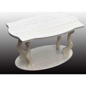 Стол журнальный Мебелик Берже 3 белый ясень мебелик стол журнальный берже 3 белый ясень 33ezffr