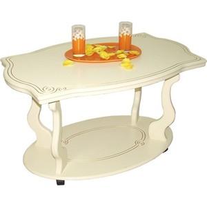 Стол журнальный Мебелик Берже 3 слоновая кость мебелик стол журнальный берже 3 белый ясень 33ezffr