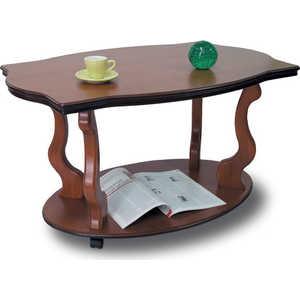 Стол журнальный Мебелик Берже 3 средне-коричневый мебелик стол журнальный берже 3 белый ясень 33ezffr